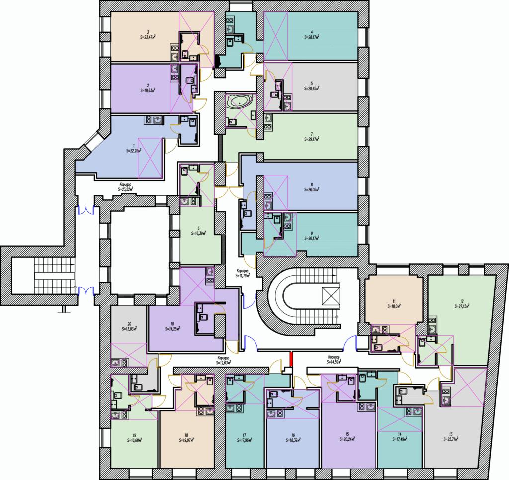 Планировка стужий загородный проспект 45