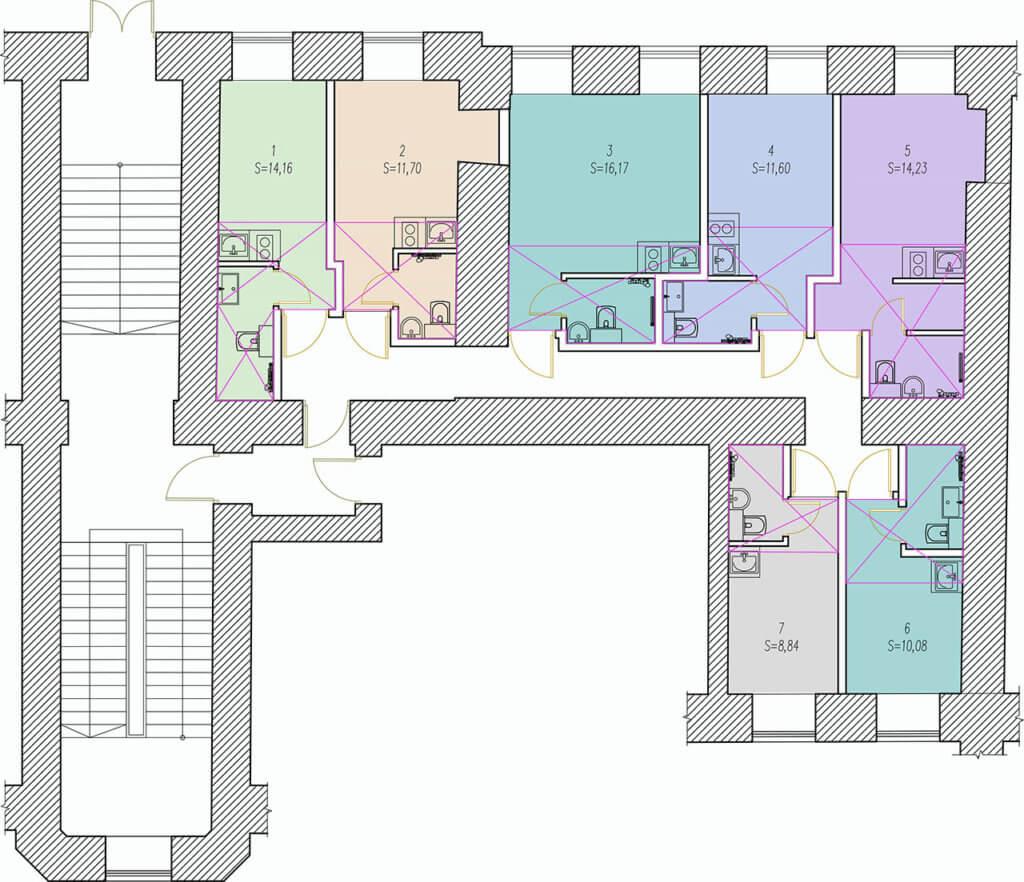 планировки студия 3 красноармейская 1 этаж
