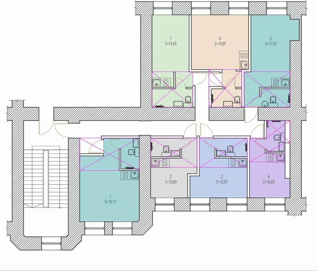 планировки студия 3 красноармейская 2 этаж
