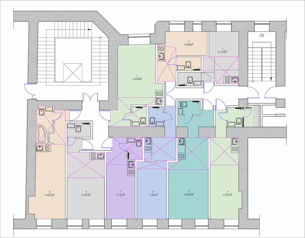 планировки студий улица можайская 37